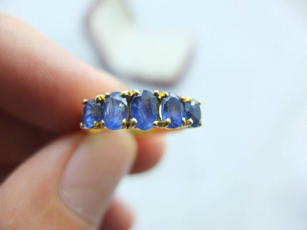 แหวนทองพลอยไพลินพม่า