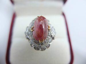 แหวนทับทิมเก่าโมก๊กพม่า