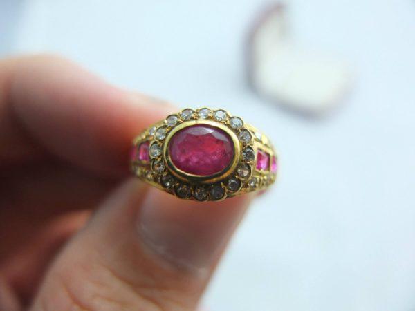 แหวนทองทับทิมพม่าเจียร