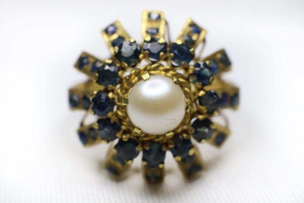 แหวนไพลินยอดมุก