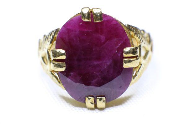 แหวนทองพลอยทับทิมแดง