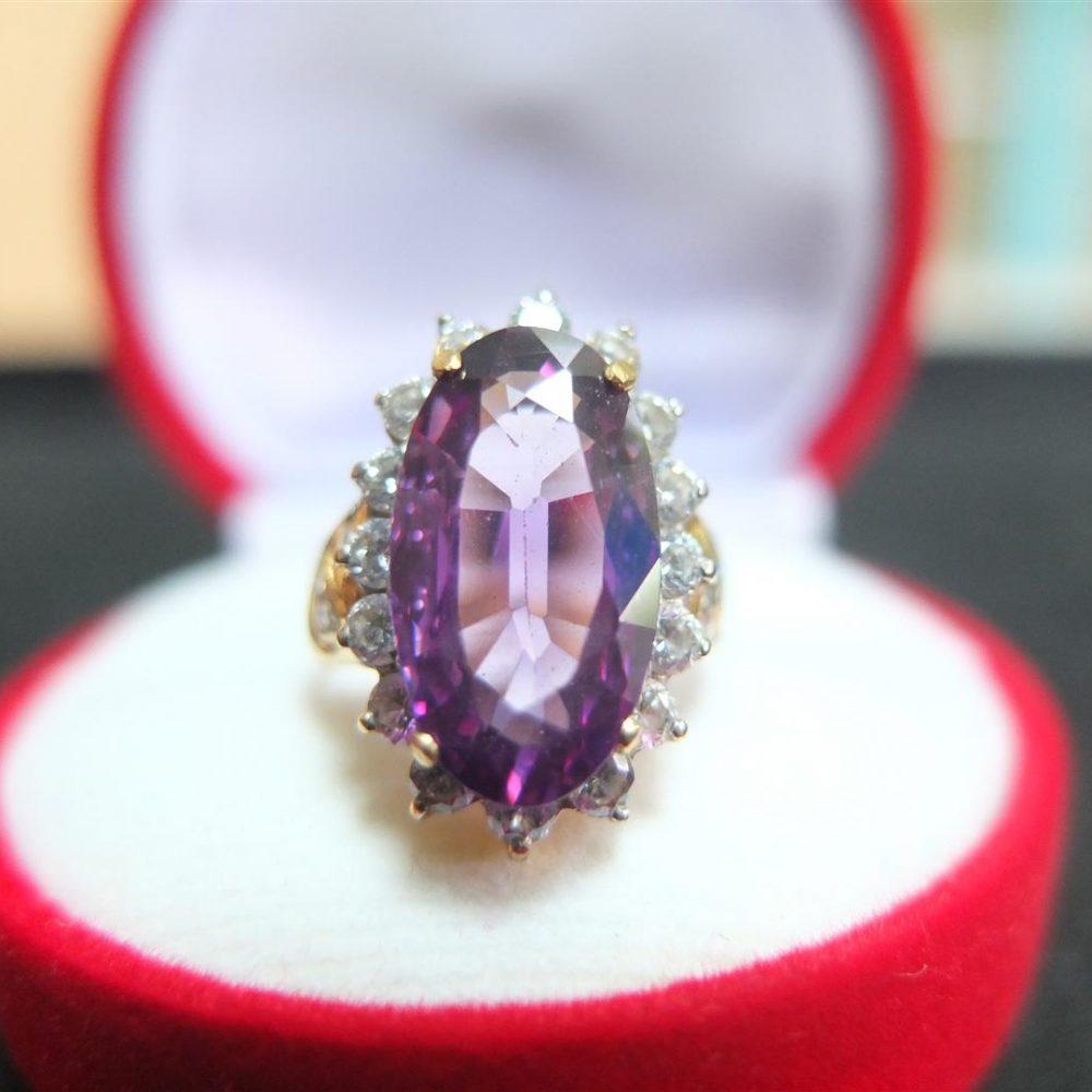 แหวนทองพลอยอเมทิสต์