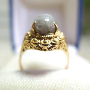 แหวนทองทับทิมขาวสวยใส
