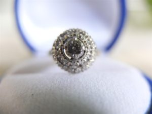 แหวนทองยอดเพชรเกสรสองชั้น