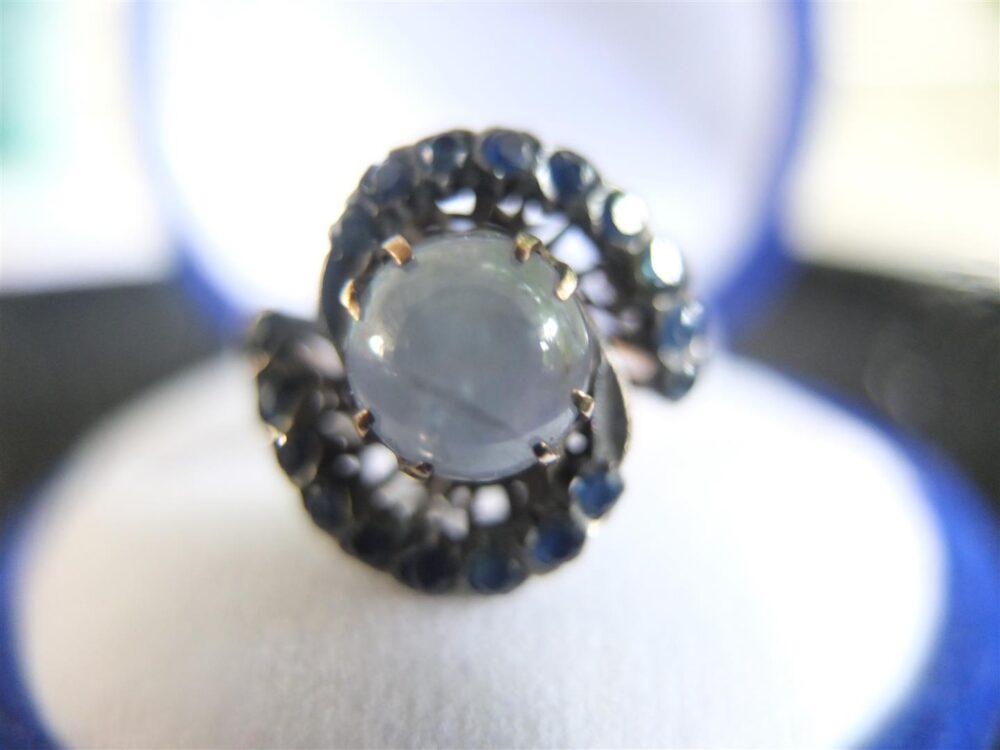 แหวนทองทับทิมขาวแก้วสตาร์