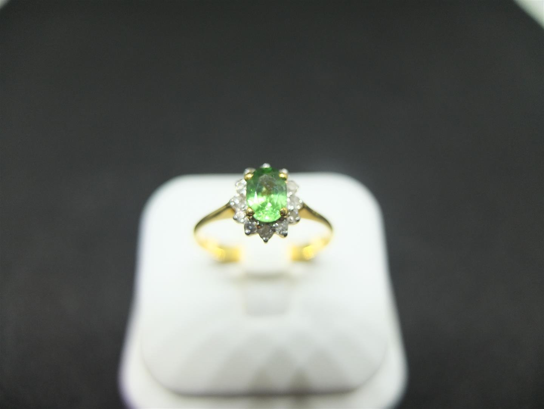 แหวนโกเมนเขียว