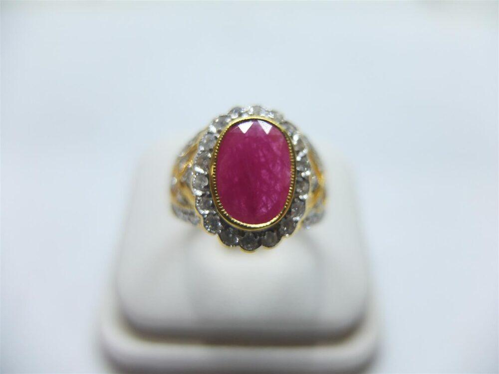 แหวนทับทิมเจียรพม่า