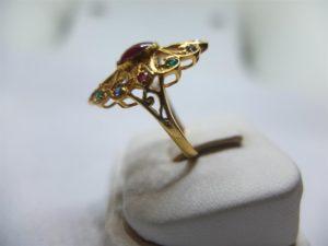 แหวนทองทรงมาร์คีโบราณ-2