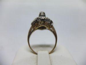แหวนเพชรเกสรทรงมาร์คีโบราณ-2