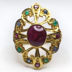 แหวนทองทรงมาร์คีโบราณ