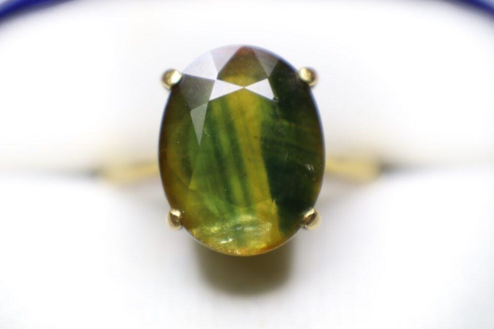 แหวนพลอยจันทบุรีบุษน้ำแตง