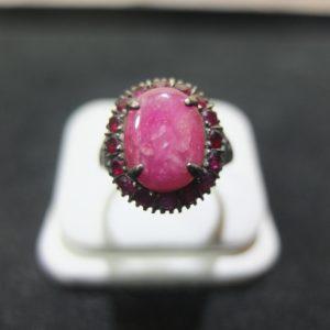 แหวนเงินทับทิมพม่า