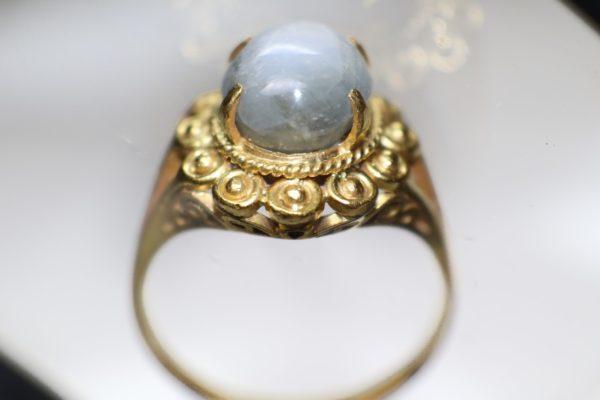 แหวนดุนลายทองในกระจก