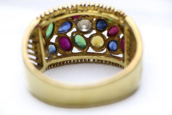 แหวนทองพลอยหลากสี