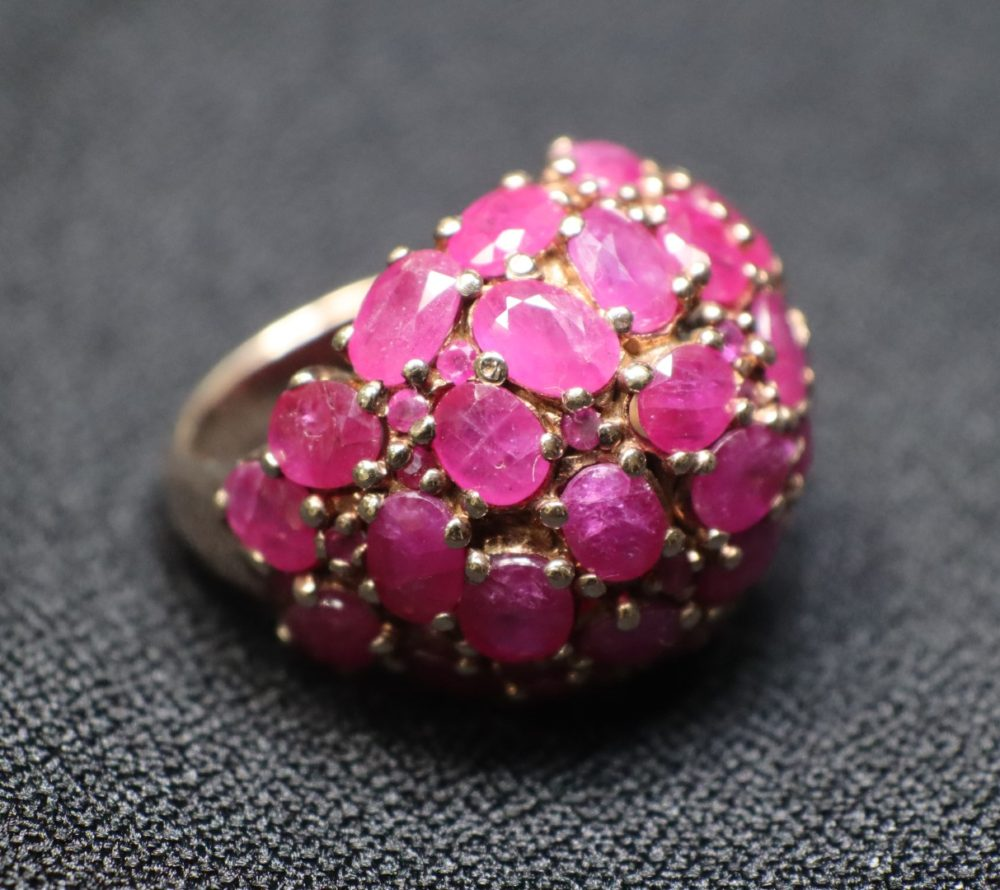 แหวนทับทิมเผาเก่า